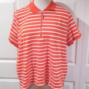 Women's Tommy Hilfiger Striped Polo Plus Sizes